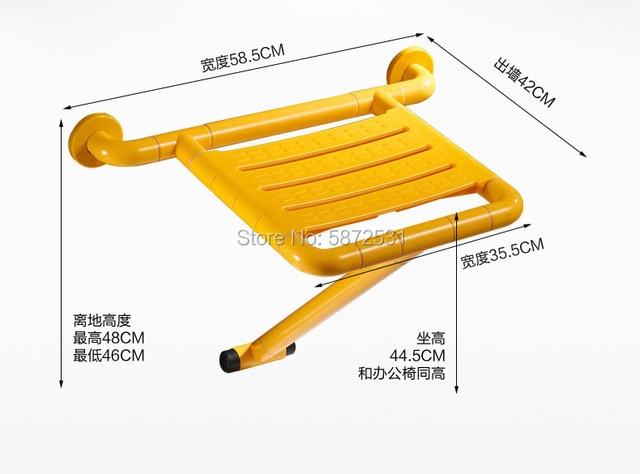 Фото высококачественный противоскользящий складной стул для душа цена