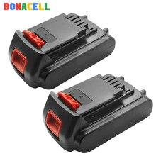 Bonacell 18v/20v 3000mah li-ion bateria recarregável bateria de substituição da ferramenta elétrica para black & decker lb20 lbx20 lbxr20