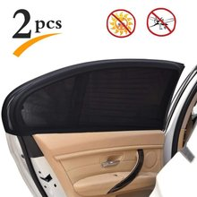 2Pcs car window sunshade Cover Side window parasol car sun shade Summer Sunscreen anti-mosquito for sun car Mesh Sun VisorKG(China)