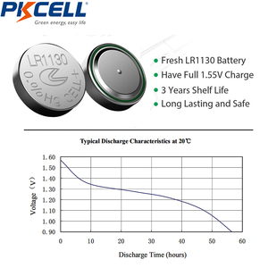 Image 5 - 20Pcs/2Card  PKCELL 1.5V AG10 389 LR54 SR54 SR1130W 189 SB BU L1130 1130  LR1130 Button Alkaline Cell Coin thermometer Battery