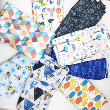 Cute Lovely Cloth Diaper Material Waterproof TPU Washable Breathable PUL Fabric 160gsm Width 150cm