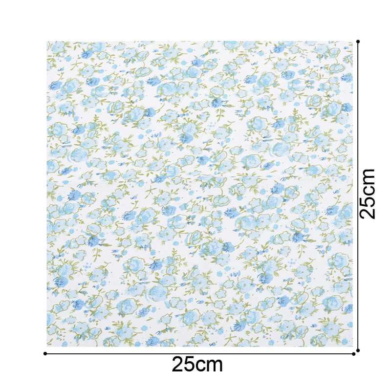 7 個混合綿生地パッチワークの布diy手作り縫製家の装飾ソフトフェルト生地刺繍 25x25cm