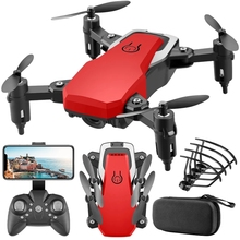 LF606 Mini Drone With Camera HD Wide High Hold Professional RC Helicopter One-Key Return FPV Drones Foldable Quadcopter Kid Toys