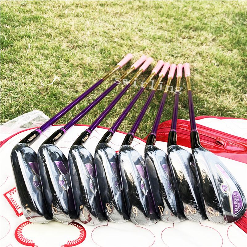New Golf Club Maruman Majesty Prestigio Women's Golf Iron Set 5-9 Pw Aw Sw Golf Graphite Shaft Swirling Free Shipping