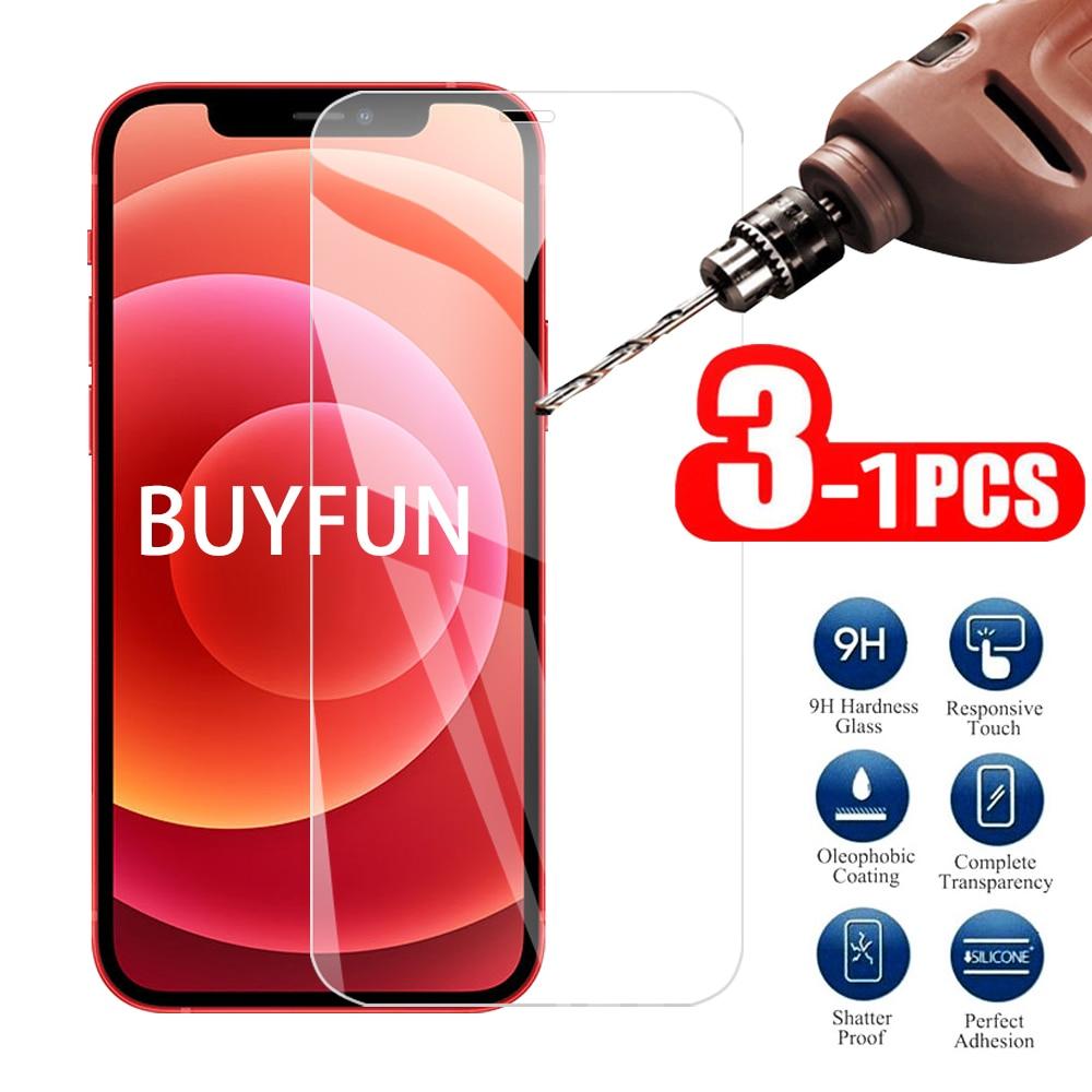 1-3 шт. прозрачное Защитное стекло для iPhone 12 mini 12 mini защита экрана Закаленное стекло пленка для iPhone 12 Pro Max Promax