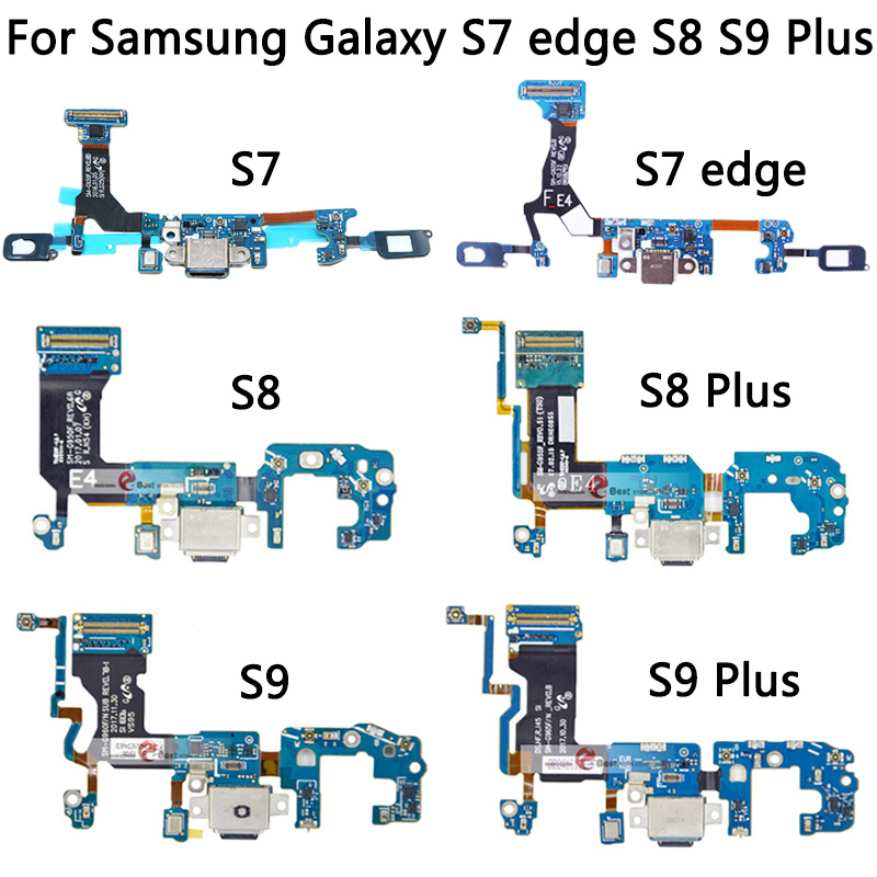 S7 USB Charging For Samsung Galaxy S7 Edge / S8 / S9 / S9 Plus Charger Connector Dock Port Flex Cable Replacement Repair Parts