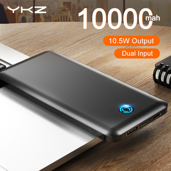 YKZ Power Bank 10000Mah Type C USB Mini Portable Charger Travel Power Bank Fast Charge Mobile Phone Powerbank 10000 Fast Charger