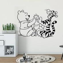 Disney Winnie The Pooh Wall Stickers For Kids Baby Room Bedroom Tigger Piglet CartoonVinyl Decal Sticekr