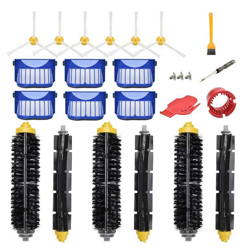 Replacement Accessories Kit For Irobot Roomba <font><b>600</b></font> Series 690 680 660 651 650(Not For 645 655)500 Series 595 585 564 552,<font><b>6</b></font> Filter image