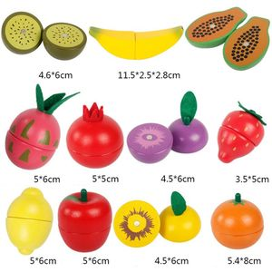 Holz klassische spiel simulation küche serie spielzeug Schneiden Obst und Gemüse Spielzeug Montessori Frühen bildung geschenke