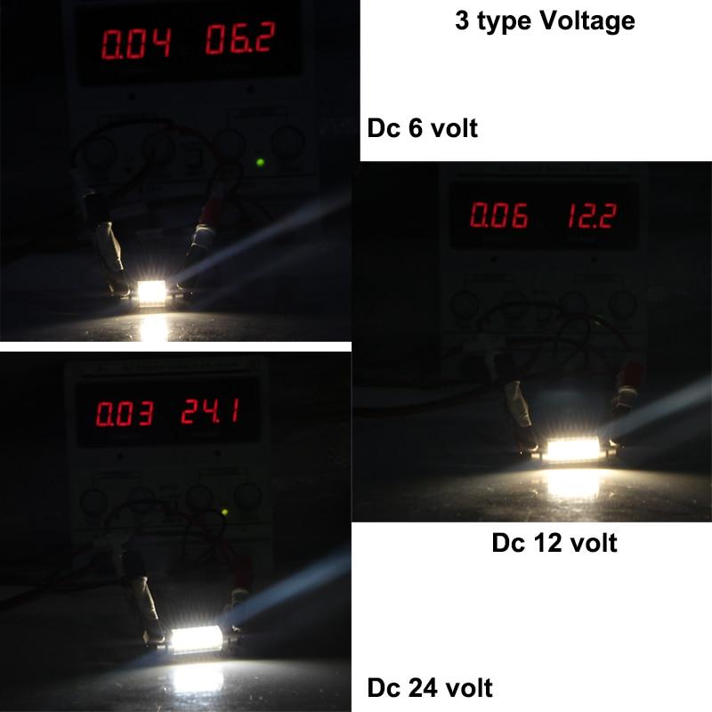 Купить с кэшбэком 10pcs led festoon light 31mm 36mm 39mm 42mm c3W C5W C10W canbus 6 12 24 v volts glass shell bulb 6v 12v 24v Interior Doom Lamp