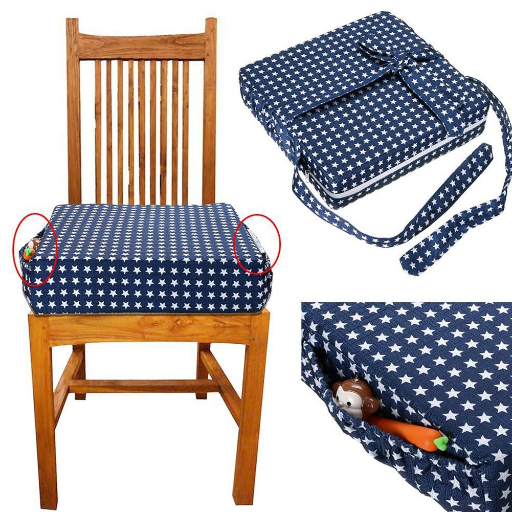 Star Pattern Baby Dining Chair Cushion Removable Kids Highchair Heightening Pad
