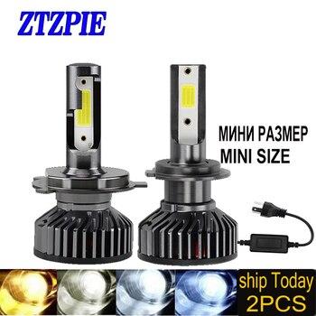 ZTZPIE 12V Led 3000K 4500K 6000K 8000K 12000LM 9005 H1 H4 Led Headlight H3 H7 H11 9006 Canbus Led Bulbs Super Bright Light 2pcs