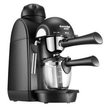 Italian Coffee Machine Household Small Mini Commercial Coffee Pot Full Semi-automatic Steam Milk Bubble Machine Spot