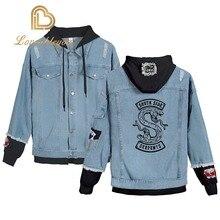 Riverdale Jeans Denim Jacket SouthSide Serpents Streetwear Tops Spring Jean Mens Harajuku Hip Hop Clothing Male