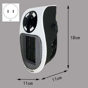 Image 2 - 22%, uzaktan elektrikli Handy isıtıcı 10A 220V 500W hızlı isıtma Mini masaüstü duvar soba radyatör ısıtıcı makinesi