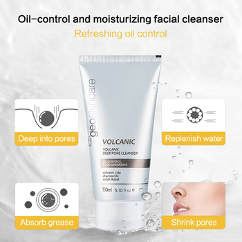 Geoskincare Face Cleanser Facial Cleansing Volcanic Rock Mud Pore Cleanser 150ml Acne Oil Control Blackhead Remover Shrink Pores недорого