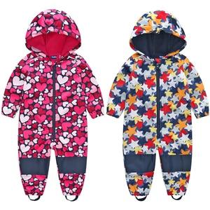 Image 2 - kids / boys softshell jumpsuit, girls overalls with fleece lining, windproof & waterproof