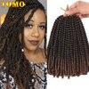 TOMO Afro Ombre bahar büküm tığ saç 20Strand tığ örgüler tutku büküm sentetik örgü saç uzatma jamaika sıçrama