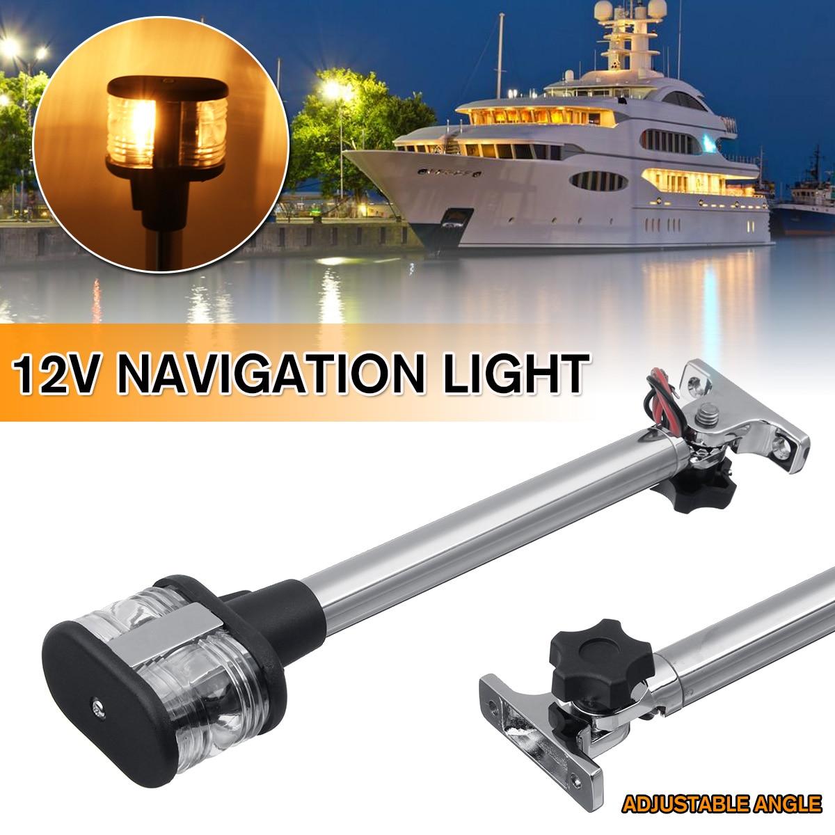Fold Down Fold Down LED Navigation Light For Yacht Boat Stern Anchor Light 12-24V 25cm Pactrade Marine Boat Sailing Signal Light