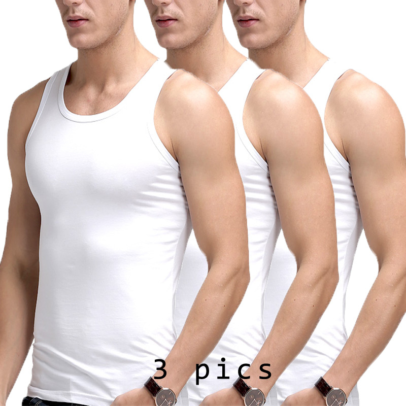 Modal White Sleeveless Undershirt Men Stretch Workout Underwear Top Sexi  Bodysuit Comfy Cotton Undershirts Ropa Interior Hombre