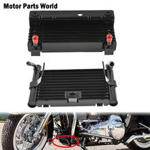 Motorcycle Oil Cooler Adapter Cooling Device Radiator Water Tank For Harley Touring Road King FLHR Road Glide Street Glide 09-18 free shipping black stock oil cooler cover for harley road kings road glides street glides 2011 2015