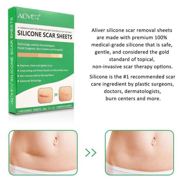 Reusable Silicone Scar Sheets Removal Patch Acne Gel Scar Therapy Silicon Patch Remove Trauma Burn Sheet Skin Repair 4