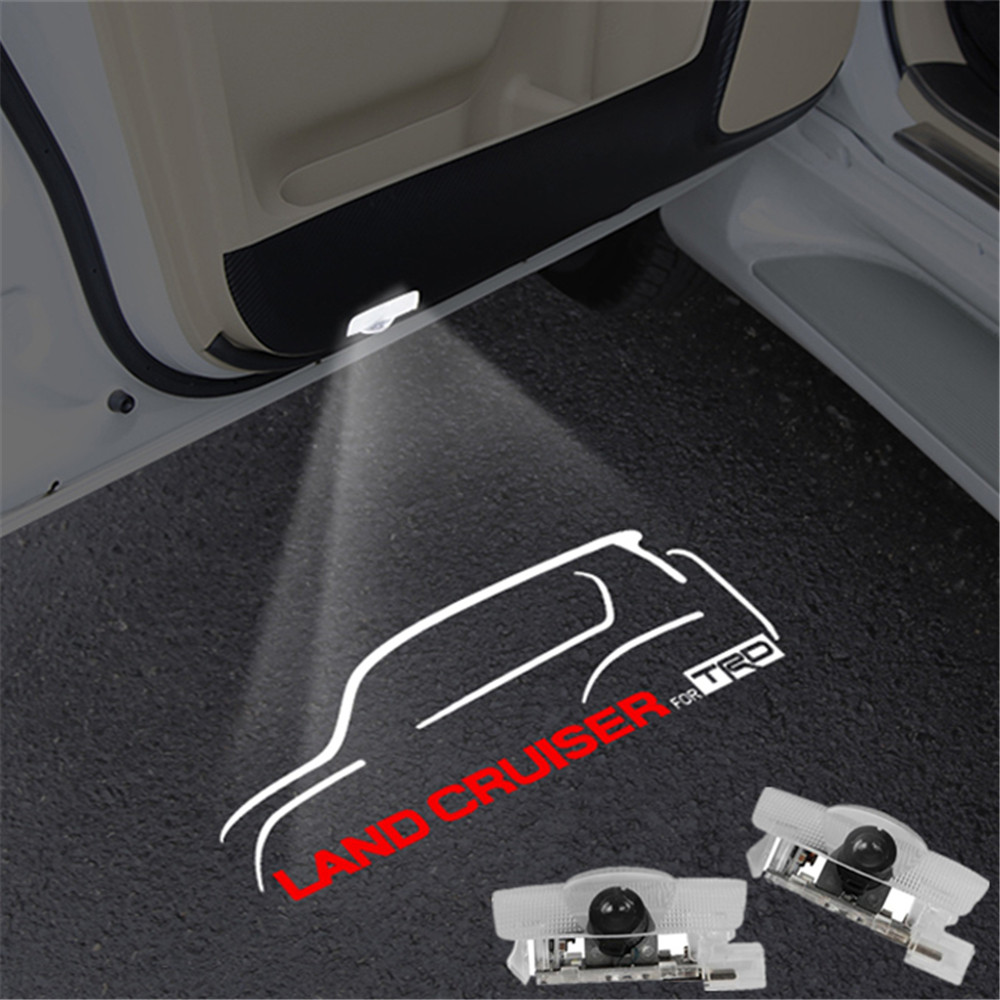 2X LED Welcome Light For Toyota Land Cruiser 2010-2018 Car Accessories Side Door Logo Projector 6000K Ghost Shadow Lamps
