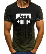 2019 JEEP Marke Military T Hemd Männer Kleidung Kurzarm O Neck T-shirts Sommer Kleid ford Mustang Hohe Qualität Männer tops Tees(China)