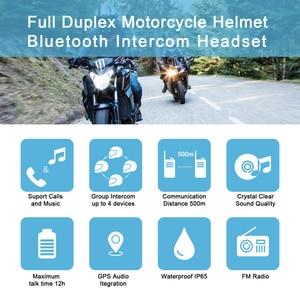 Image 2 - V4 Intercom Intercomunicadores De Casco Moto Helm Bluetooth Headset Intercomunicador Moto Radio 4 Fahrer 1200m Intercom Moto