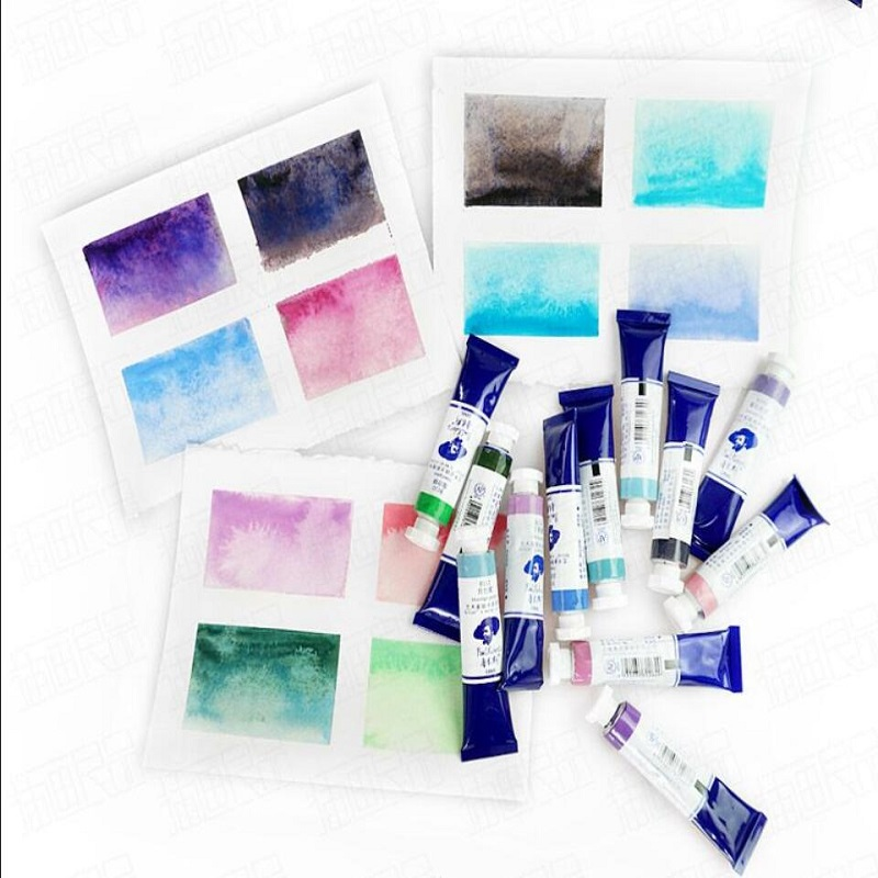 Rubens Watercolor Pigment Transparent Tubular Acuarela Special Color Akvarelo Layered Master Painting Sketch Artist Level Paint