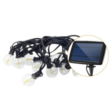 Solar 5.5M 10 Led Light String G40 Outdoor Decorative Ambient Wedding Round Warm Romantic Party Garde
