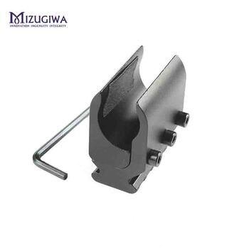 Taktyczna Pojedyncza Rura/podwójna Rura Rifle Picatinny Rail Adapter Do 20mm Weaver Szyna Jaskółczy Ogon Góra Bipod Latarka Laser