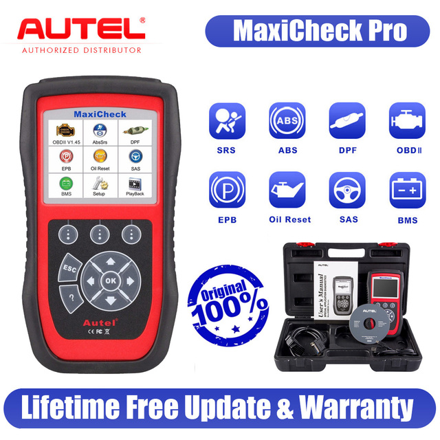 2021 Autel MaxiCheck Pro OBD2 ScannerCar Diagnostic Tool EPB ABS SRS Airbag DPF Code Scanner