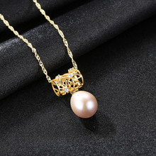S925 Pure Silver Jewelry Natural Pearl Necklace with 3A Zircon Korean Fashion for Women