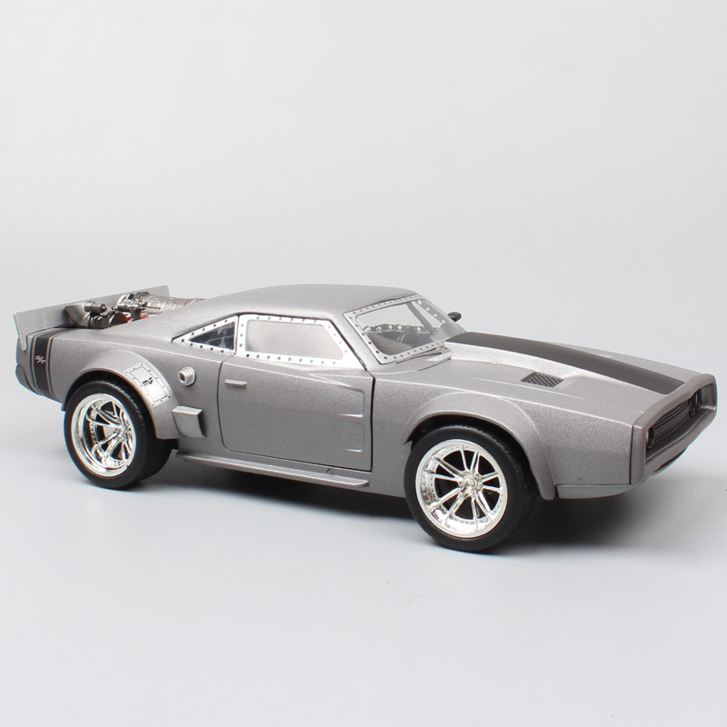 kids 1/24 scale  1968 Dodge Charger Ice Charger FF custom model car Diecasts & Toy Vehicles dom's muscle race car for collection