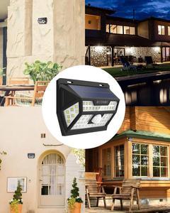 Image 5 - Blitzwolf BW OLT1 Smart Pir Motion Sensor Controle Solar Power 62 Led Wall Lamp Waterdicht Voor Outdoor Garden Path Yard