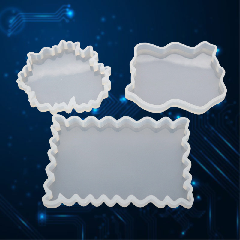 1PC Irregular Silicone DIY Tray Round Diamond Rectangle Shaped UV Resin Jewelry Accessories Molds Resin Tools