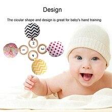Для новорожденных Детское Зубное кольцо Жевать Игрушка Обучение зубы Жевательная Портативный ручной безопасная, из дерева кольцо TrainBaby зубы упражняющая игрушка