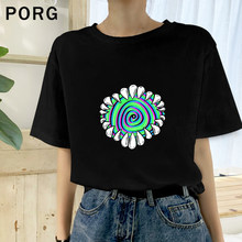 Dont Look For Too Long T Shirt Women Tops Vintage Summer Top Female T-Shirt Short Sleeve Sequin Tee Shirt Femme Tshirt Men(China)