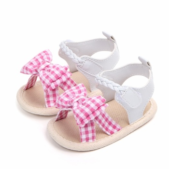 Cute Baby Sandals Summer Leisure Fashion Girls Bowknot Braided Children Shoes
