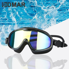 DMAR electroplat all standing Swimming Goggles Anti-Fog Diving Eyewear professional Waterproof silicone glasses