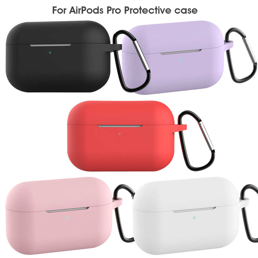 Kasus untuk Airpods PRO Silicone Wireless Earphone Case untuk Udara Pods Pro Bluetooth Headset Kasus Pelindung untuk Apple Udara Pods Pro
