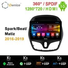 Ownice K3 K5 K6 Android 10,0 4G LTE Auto DVD für Chevolet Funken/Beat/Matiz 2016   2019 Stereo Audio Video 360 Panorama DSP SPDIF