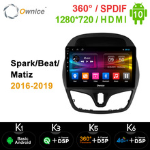 Ownice K3 K5 K6 Android 10.0 4G Lte Auto Dvd Voor Chevolet Spark/Beat/Matiz 2016   2019 Stereo Audio Video 360 Panorama Dsp Spdif