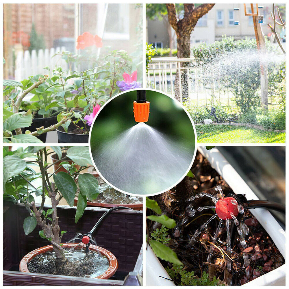 25M DIY Drip Irrigation System Automatic Watering Irrigation System Kit Garden Hose Micro Drip Watering Kits Adjustable dripper 2