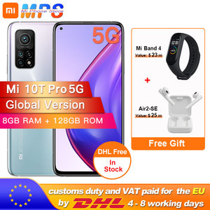Global Version Xiaomi Mi 10T Pro 5G 108MP Triple Camera 8GB 128GB Mobile Phone NFC Snapdragon 865 144Hz 5000mAh