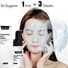 Hyaluronik asit yüz serumu cilt bakımı özü küçültmek gözenek nemlendirici onarım beyazlatma Anti aging kuru yüz kremi