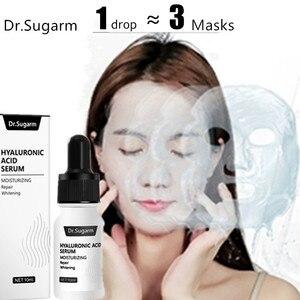 Image 1 - Hyaluronik asit yüz serumu cilt bakımı özü küçültmek gözenek nemlendirici onarım beyazlatma Anti aging kuru yüz kremi