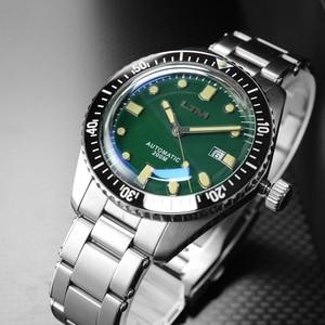 Image 2 - San Martin Diver Men Watch Automatic Mechanical Stainless Steel Sapphire Ceramic Bezel Luminous Waterproof 200M часы мужские